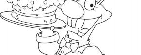 לארנב יש יום הולדת – נצבע לו את העוגה