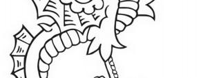דרקון חץ דף לציבעה לילדים