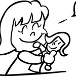 הבובה האהובה – דף צביעה