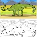 דינוזאור פרהיסטורי ארוך צוואר