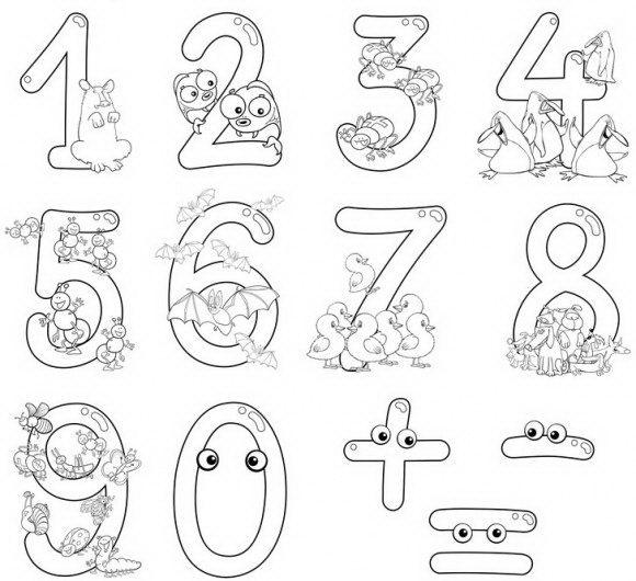 דפי צביעה להדפסה איתם ניתן ללמוד מספרים בקלות בעזרת חיות חמודות.
