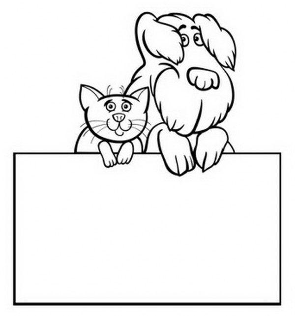 חתול וכלב חמודים יושבים יחדיו