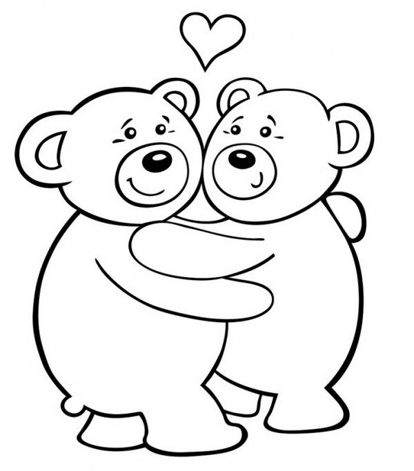דובים מאוהבים לצביעה