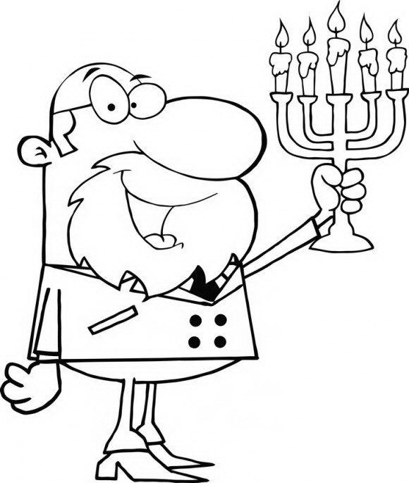 ציורים לילדים של הדלקת נרות לחג החנוכה אותו תוכלו לצבוע בהנאה רבה.