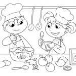 ילדים חמודים מכינים סופגניות