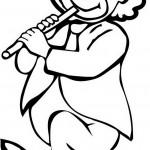 ליצן מנגן בחליל ופוצח לו בריקוד