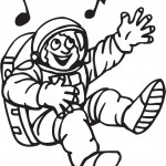 אסטרונאוט  שר בחלל לצביעה