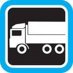 משאית עם מסגרת כחולה