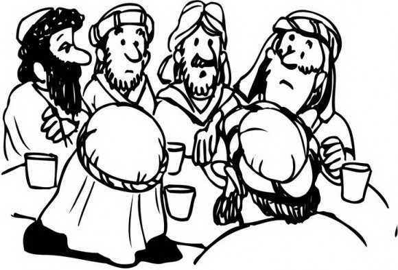 ראש השנה ידוע כחג שכולו סביב משפחה וארוחת החג, תמונה זאת ממכישה זאת היטב ומגוון דפי צביעה.