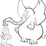 פיל חמוד רוחץ עכבר