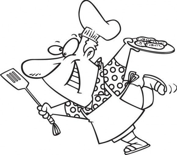 בואו לצבוע בשלל צבעים ובהנאה רבה טבח משוגע שמגיש אוכל וכמעט נופל על הרצפה.