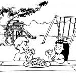 ילדים חמודים אוכלים יחד