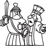 אנטיוכוס מפקד על חייליו לתקוף