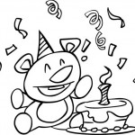 דובי קטן וחמוד חוגג יום הולדת