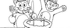 דובי וחתול חוגגים יום הולדת