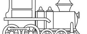 קטר של רכבת לצביעה