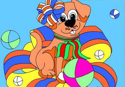 מתנת יום הולדת - לצבוע כלב חמוד