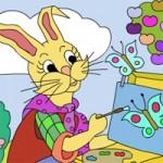 הארנב הצייר משחק צביעה און ליין