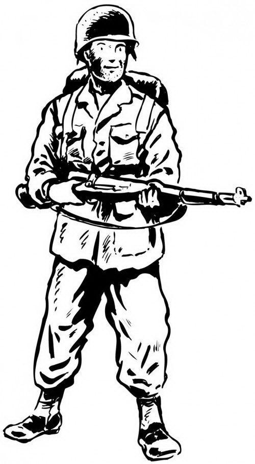 דף צביעה של חייל