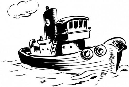 דף צביעה ספינת דייג