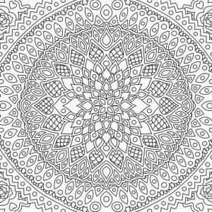 מנדלה לצביעה – פרחי לוטוס