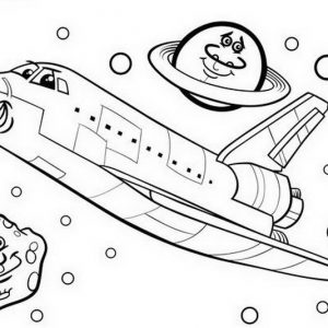 ציור לצביעה החללית החייכנית