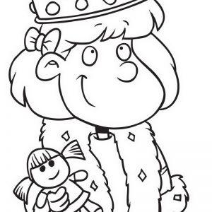 נסיכה עם בובה חמודה