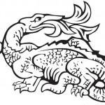 דף צביעה דרקון האש