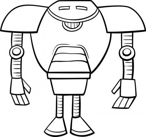 דף צביעה סופר רובוט