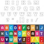 כל האותיות וכל הסימנים באנגלית
