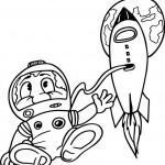 אסטרונאוט מרחף בחלל