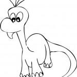 בייבי דינוזאור דף צביעה