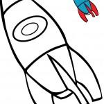 ציור של כלי תחבורה מדהים החללית