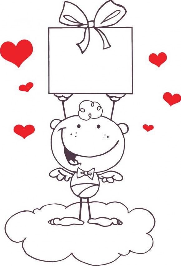 דפי צביעה להורדה של קופידון מקסים במיוחד לחג האהבה ממנו תוכלו להכין ברכה אוהבת לחג הנהדר.