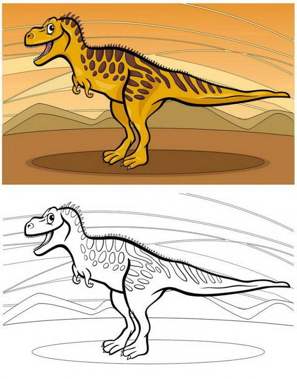 צביעה של דינוזאור רקס