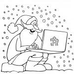 סנטה קלאוס עם מחשב נייד