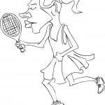 שחקנית טניס לצביעה