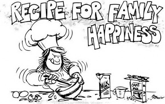 דפי צביעה להורדה אוכל עם טבחית מצחיקה שעושה בלאגן בכל המטבח בנסיון לבשל.