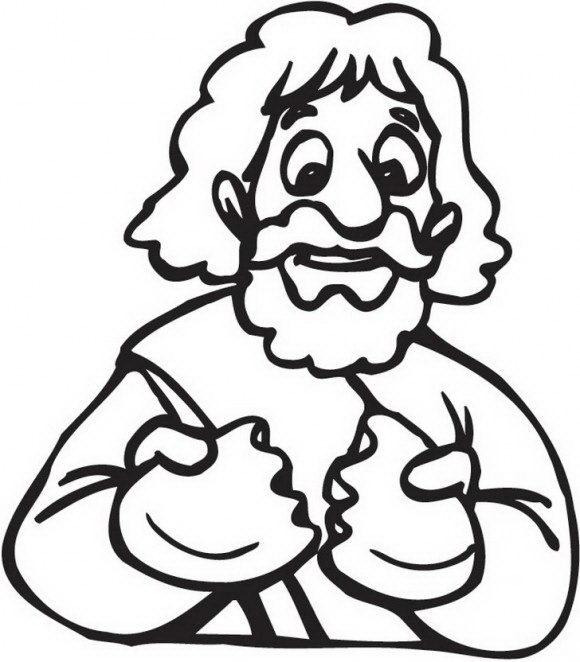 מגוון רחב של דפי צביעה לחנוכה של אדם האוכל סופגנייה להנאתו אותו תוכלו לצבוע בהנאה רבה.