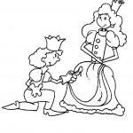 נסיך כורע ברך לפניי נסיכה
