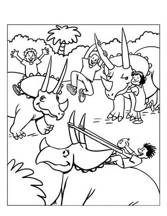 בואו לצבוע דפי צביעה דינוזאורים מקסימים אשר ילדים נהנים לרכוב עליהם.