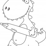 הדינוזאור מחפש דפי צביעה לילדים