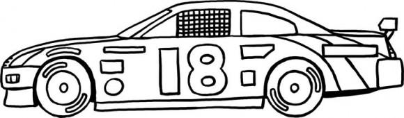 דפי צביעה לילדים של מכונית מירוץ מרשימה במיוחד אותה תוכלו לצבוע כתאוות נפשכם.