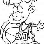 ילד מקסים משחק כדורסל
