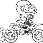 איש מצחיק רוכב על אופנוע