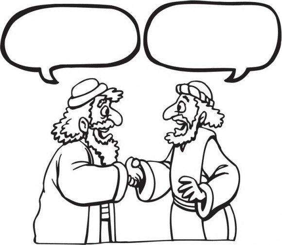דפי צביעה לחג פסח עם בני ישראל החוגגים את יציאת מצרים בלחיצת יד אותם תוכלו לצבוע בהנאה לחג.