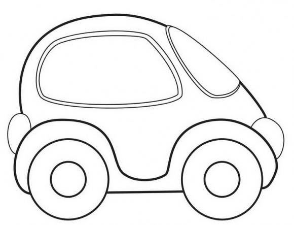 דפי צביעה מכוניות לבנים עם מכונית בימבה מקסימה, אותה תצבעו בצבע שאתם רוצים.