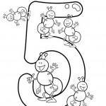 הספרה חמש וחמש נמלים